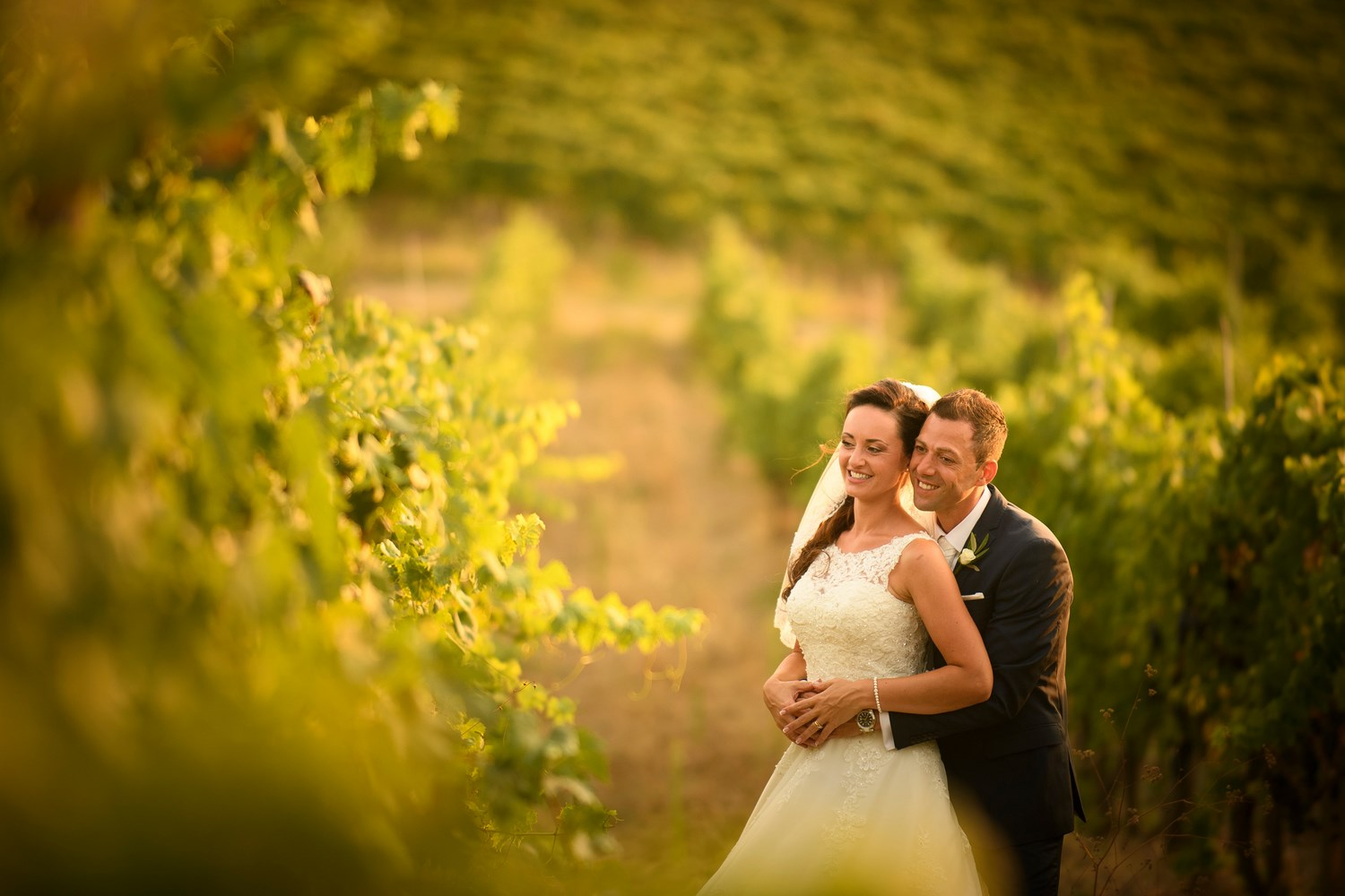 Chianti wedding in vineyards